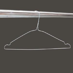 Silver notched wire hangers MEVO