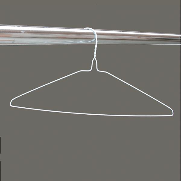White wire hangers
