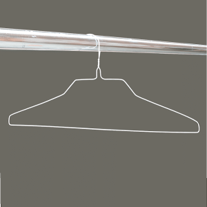White wire shirt hangers